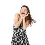 Muchacha adolescente hermosa en la risa de la alineada Imagen de archivo libre de regalías