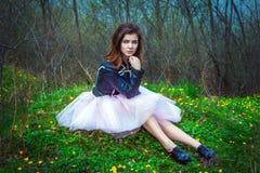 Muchacha adolescente hermosa en un prado Fotografía de archivo libre de regalías