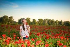 Muchacha adolescente hermosa sonriente Foto de archivo libre de regalías