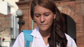 Muchacha adolescente impaciente y ansiosa Imágenes de archivo libres de regalías