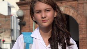 Muchacha adolescente impasible seria Foto de archivo