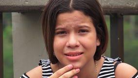 Muchacha adolescente infeliz y desesperada Imagen de archivo libre de regalías