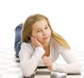 Muchacha adolescente joven hermosa Imagenes de archivo