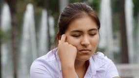 Muchacha adolescente joven solamente Imagen de archivo libre de regalías