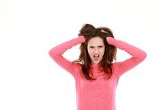 Muchacha adolescente joven trastornada Imágenes de archivo libres de regalías