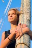 Muchacha adolescente linda al aire libre Foto de archivo