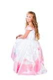 Muchacha adolescente linda con los pelos rubios largos asombrosos Imágenes de archivo libres de regalías