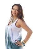 Muchacha adolescente linda sobre blanco Imagen de archivo libre de regalías