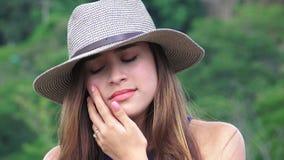 Muchacha adolescente llorosa y triste Imagen de archivo