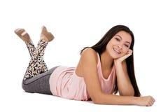 Muchacha adolescente ocasional Fotografía de archivo