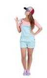 Muchacha adolescente pelirroja en pantalones cortos Imagen de archivo
