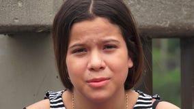 Muchacha adolescente preocupante y subrayada Fotos de archivo libres de regalías