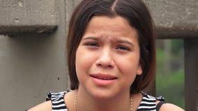Muchacha adolescente preocupante y subrayada Fotos de archivo