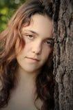 Muchacha adolescente presionada Fotos de archivo libres de regalías