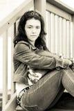 Muchacha adolescente presionada Imagen de archivo