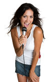 Muchacha adolescente que canta Fotos de archivo