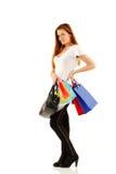 Muchacha adolescente que hace compras Imagen de archivo libre de regalías