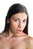 Muchacha adolescente que hace la expresión Imagen de archivo libre de regalías