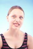 Muchacha adolescente que hace muecas Imágenes de archivo libres de regalías