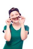 Muchacha adolescente que juega con su pelo Foto de archivo libre de regalías