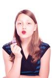 Muchacha adolescente que mira la cámara Fotos de archivo libres de regalías