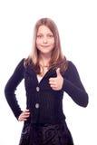 Muchacha adolescente que muestra como Fotos de archivo libres de regalías