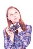 Muchacha adolescente que piensa en algo Fotos de archivo libres de regalías