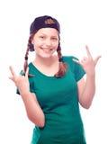 Muchacha adolescente que se divierte Imagenes de archivo