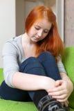 Muchacha adolescente que tiene decepción Imagen de archivo