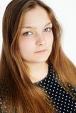 Muchacha adolescente regordeta hermosa con el pelo largo Imagen de archivo libre de regalías