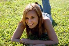 Muchacha adolescente Relaxed Imagen de archivo