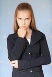 Muchacha-adolescente serio en asunto Fotografía de archivo libre de regalías