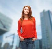 Muchacha adolescente sonriente al aire libre Imágenes de archivo libres de regalías