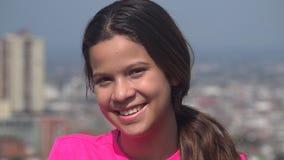 Muchacha adolescente sonriente o persona feliz Fotografía de archivo libre de regalías