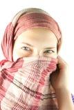 Muchacha adolescente sorda en un mantón Fotos de archivo libres de regalías