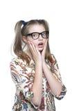 Muchacha adolescente sorprendida Imagen de archivo libre de regalías