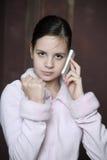 Muchacha adolescente triste Fotografía de archivo libre de regalías