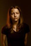 Muchacha adolescente triste Fotos de archivo libres de regalías