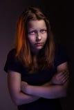 Muchacha adolescente triste Imágenes de archivo libres de regalías
