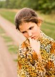 Muchacha adolescente triste del retrato Fotos de archivo