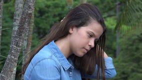 Muchacha adolescente triste o persona deprimida Fotos de archivo libres de regalías