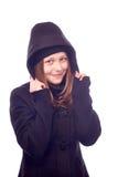Muchacha adolescente vestida en capa Fotografía de archivo