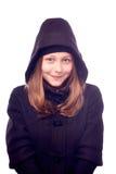 Muchacha adolescente vestida en capa Fotos de archivo libres de regalías