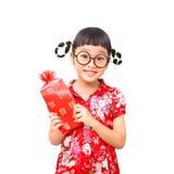 Muchacha afortunada china Fotografía de archivo libre de regalías