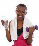 Muchacha africana de la salud del ejercicio imagenes de archivo
