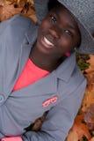 Muchacha africana feliz foto de archivo