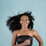 Muchacha africana feliz Fotografía de archivo libre de regalías