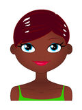 Muchacha africana sonriente con el pelo plano Imagen de archivo libre de regalías
