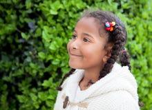 Muchacha afroamericana bonita al aire libre Imágenes de archivo libres de regalías