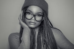 Muchacha afroamericana de moda Imagen de archivo